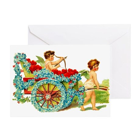 Valentine Love Cupids Greeting Card