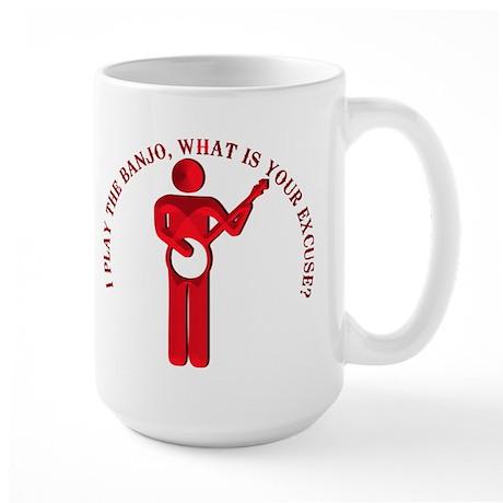 I PLAY BANJO Large Mug