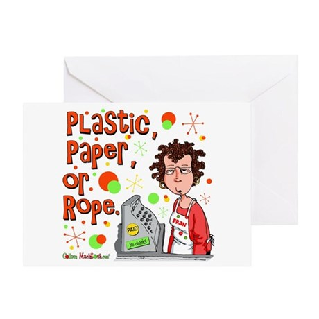 Plastic, Paper or Rope Greeting Card