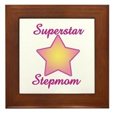 Superstar Stepmom Framed Tile
