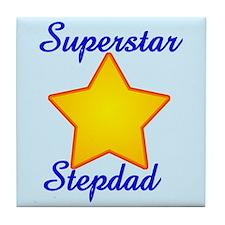 Superstar Stepdad Tile Coaster