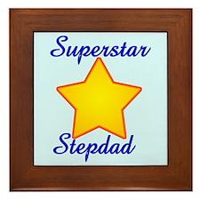 Superstar Stepdad Framed Tile