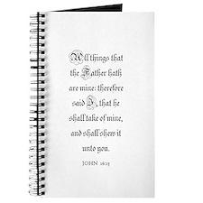 JOHN 16:15 Journal