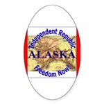 Alaska-3 Oval Sticker
