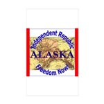 Alaska-3 Rectangle Sticker 50 pk)
