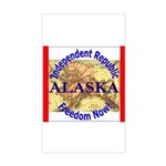 Alaska-3 Rectangle Sticker