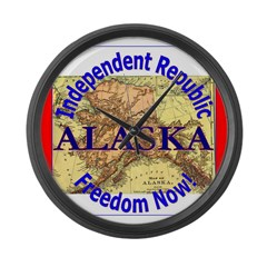 Alaska-3 Large Wall Clock