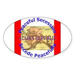 Alaska-1 Oval Sticker (10 pk)
