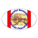 Alaska-1 Oval Sticker