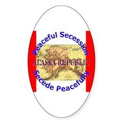 Alaska-1 Oval Sticker (50 pk)