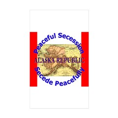 Alaska-1 Rectangle Sticker 10 pk)