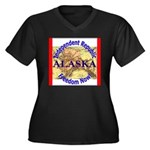 Alaska-3 Women's Plus Size V-Neck Dark T-Shirt