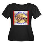 Alaska-3 Women's Plus Size Scoop Neck Dark T-Shirt