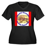 Alaska-1 Women's Plus Size V-Neck Dark T-Shirt