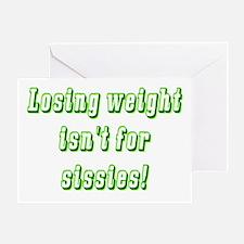 Sissies (green) Greeting Card