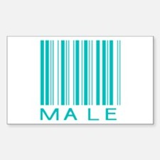 Male Rectangle Decal