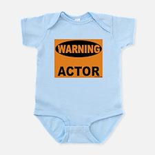 Actor Warning Sign Infant Bodysuit