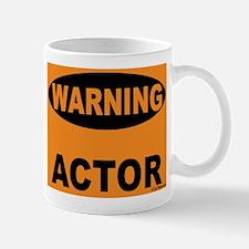 Actor Warning Sign Mug