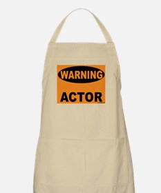 Actor Warning Sign BBQ Apron
