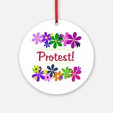 Protest! Ornament (Round)