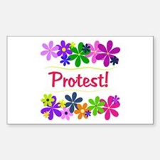 Protest! Rectangle Decal