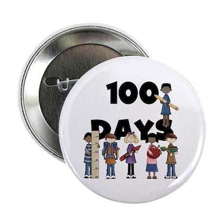 """School Children 100 Days 2.25"""" Button"""