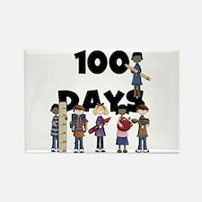 School Children 100 Days Rectangle Magnet