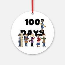 School Children 100 Days Ornament (Round)