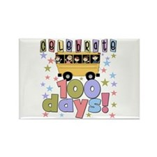 Celebrate 100 Days of School Rectangle Magnet