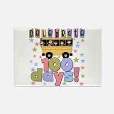 Celebrate 100 Days of School Rectangle Magnet