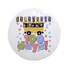 Celebrate 100 Days of School Ornament (Round)