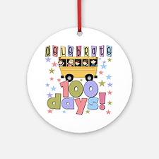 Celebrate 100 Days of School Ornament (Round)