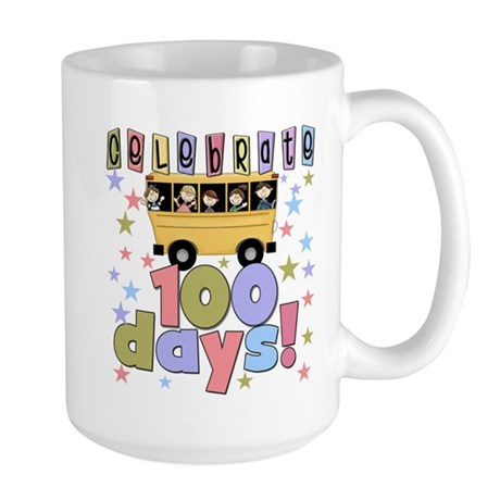 Celebrate 100 Days of School Large Mug
