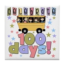 Celebrate 100 Days of School Tile Coaster