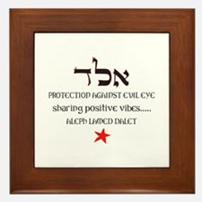 PROTECTION FROM EVIL EYE Framed Tile
