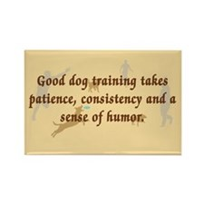 Good Dog Training Rectangle Magnet (10 pack)