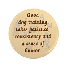 "Good Dog Training 3.5"" Button (100 pack)"