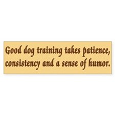 Good Dog Training Bumper Car Sticker