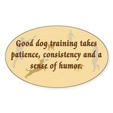 Good Dog Training Oval Decal