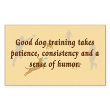 Good Dog Training Rectangle Decal