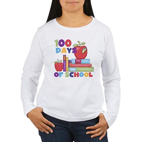 Books 100 Days Women's Long Sleeve T-Shirt