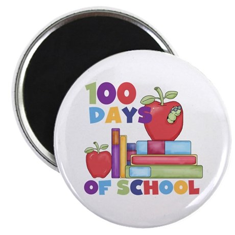 "Books 100 Days 2.25"" Magnet (10 pack)"