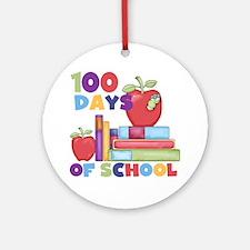 Books 100 Days Ornament (Round)