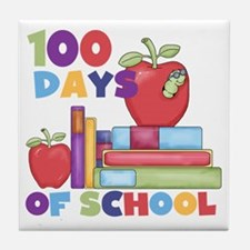 Books 100 Days Tile Coaster