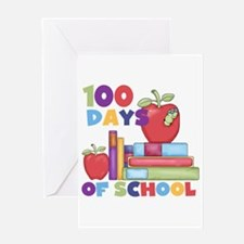 Books 100 Days Greeting Card