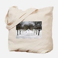 Snow Covered Path To Washington Tote Bag