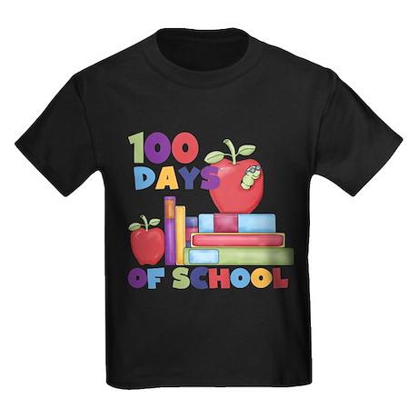 Books 100 Days Kids Dark T-Shirt
