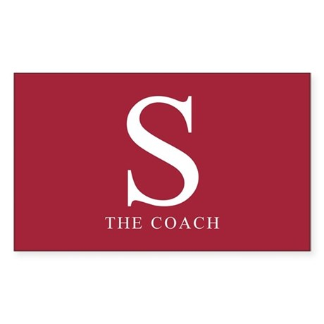 S The Coach Rectangle Sticker