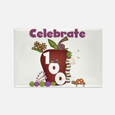 Bugs and Apple 100 Days Rectangle Magnet