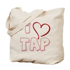 Tap Dance Design - I love Tap Tote Bag